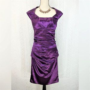 Jax Ruched Cocktail Dress Size 10
